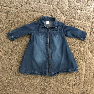 Jean dress 6-12M